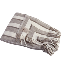 Tricolor Light Stripes Throw