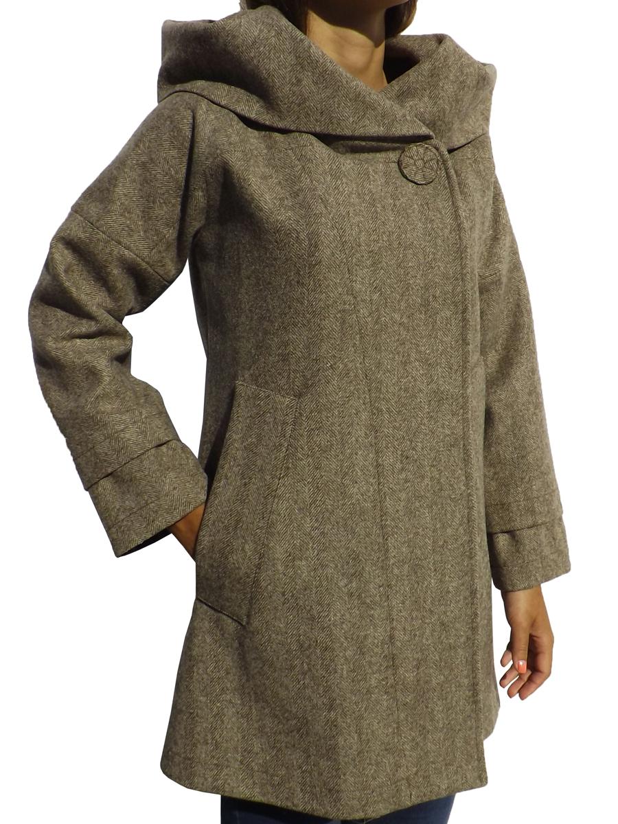 Manteau col-capouche
